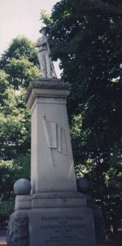 Monument to Confederate Soldiers of Culpeper County, Davis Street near A.P. Hill Boyhood Home